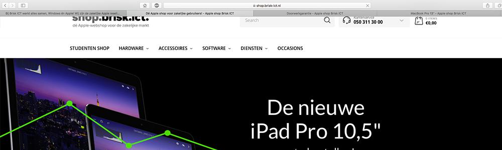 Mac meerdere tabbladen openen