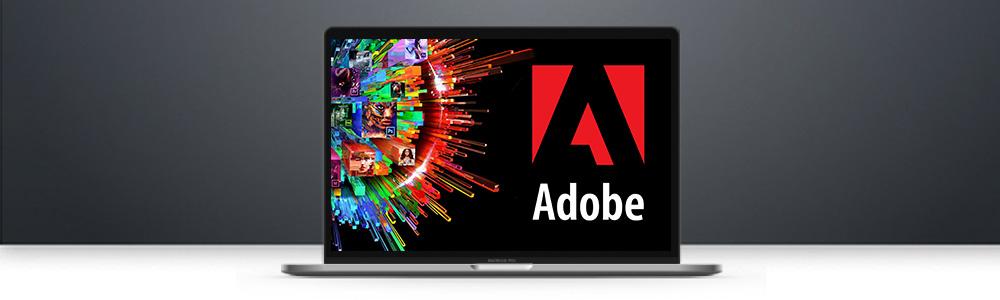 Laptop met Adobe