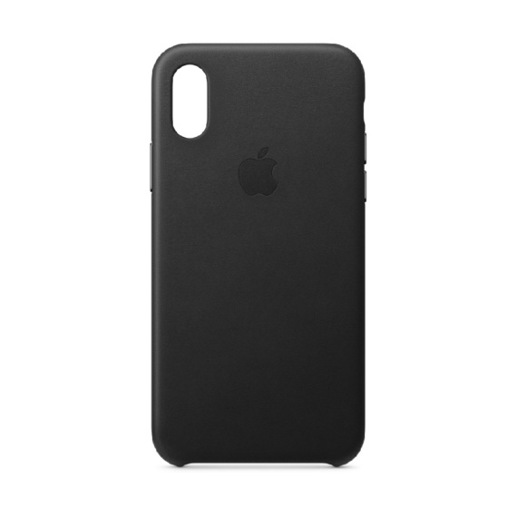 iPhone XS leren case Black