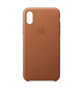 iPhone XS leren case Saddle Braun